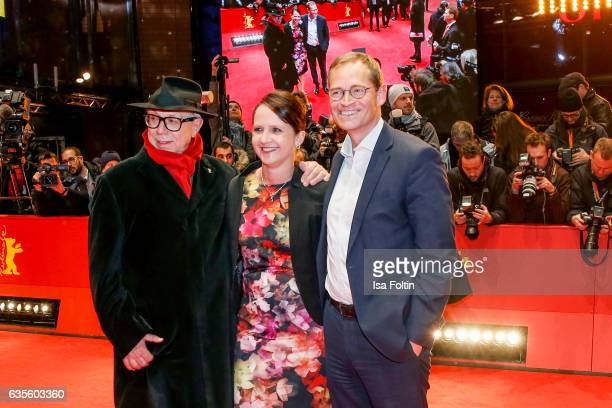 Dieter Kosslick Michael Mueller major of Berlin and his wife Claudia Mueller attend the 'Return to Montauk' premiere during the 67th Berlinale...
