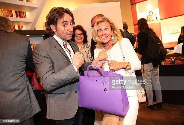 Dieter Landuris and Andrea L'Arronge during the 50th Anniversary of AIGNER on April 16 2015 in Munich Germany