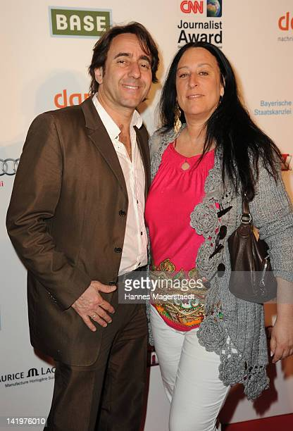 Dieter Landuris and his wife Natascha attend the CNN Journalist Award 2012 at the GOP Variete Theater on March 27, 2012 in Munich, Germany.