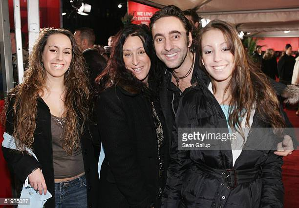 Dieter Landuris arrives with his sister Fani his other sister Isabella and his mother for the German premiere of The Aviator at the Delphi cinema...