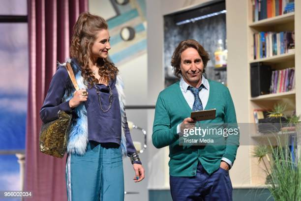 Dieter Landuris, Katharina Maria Abt perform during the press rehearsal for 'Kasimir und Kaukasus' on May 8, 2018 in Berlin, Germany.