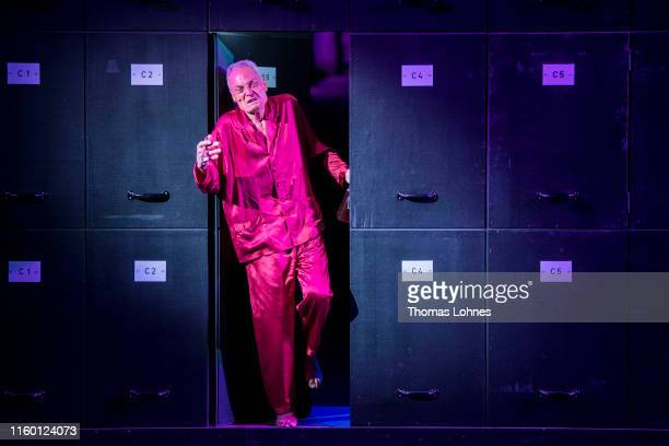 Dieter Laser as 'Advocate Huld' performs at the final rehearsal of Der Prozess during the 69 Bad Hersfelder Festspiele 2019 on July 04 2019 in Bad...