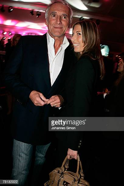 Dieter Mateschitz, owner of the Austrian Red Bull energy drink company and a friend attend the Kitzrace Party, January 27 in Kitzbuehel, Austria.