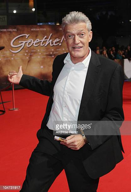 Dieter Moor attends the 'Goethe' German Premiere at CineStar on October 4 2010 in Berlin Germany