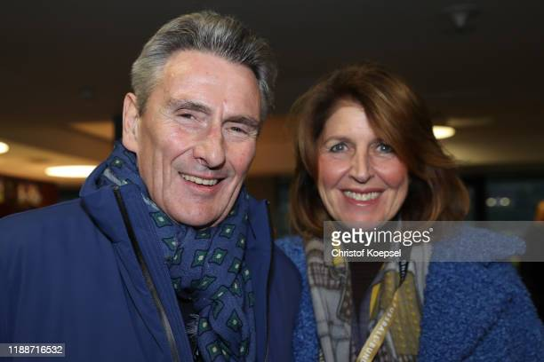 Dieter Mueller and wife Johanna Mueller attend the Club Of Former National Players Meeting at Commerzbank Arena on November 19, 2019 in Frankfurt am...