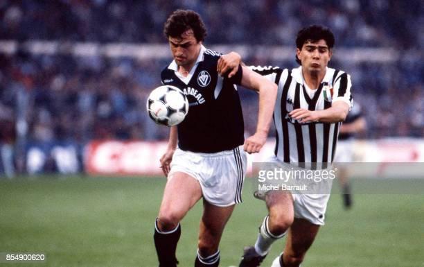 Dieter MULLER Bordeaux / Juventus Turin 1/2 finale retour Coupe d'Europe des Clubs Champions Bordeaux