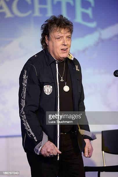Dieter Quaster Hertrampf attends the 'Puhdys' Press Conference at bcc Congress Center on October 30 2013 in Berlin Germany