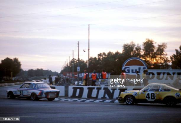 Dieter Quester in a BMW 30 CSL 11th and Peter Gregg in a Porsche 30 RSR 14th at Le Mans 24 Hours