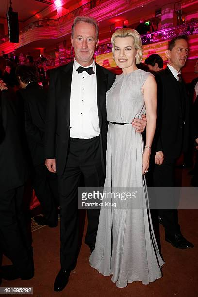 Dieter Reiter and Kriemhild Siegel attend the German Film Ball 2015 on January 17 2015 in Munich Germany