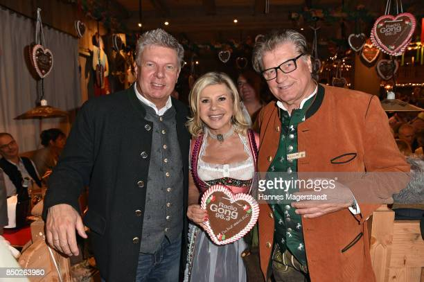 Dieter Reiter Marianne Hartl and Michael Hartl attend the Radio Gong 963 Wiesn during the Oktoberfest 2017 on September 20 2017 in Munich Germany