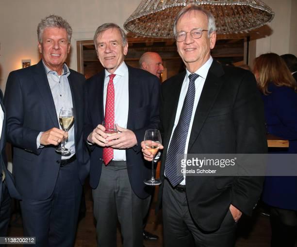 Dieter Reiter Mayor of Munich Georg Freiherr von Waldenfels Prof Dr Heinrich von Pierer CEO Pierer Consult during the UniCredit and GallerCompany...