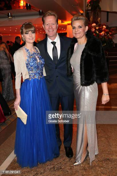 Dieter Thoma and his wife Mandana Thoma and daughter Anna Thoma during the German Sports Media Ball at Alte Oper on November 9 2019 in Frankfurt am...