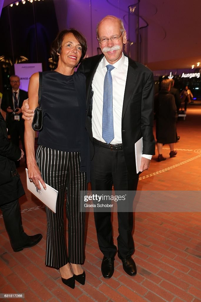 Dieter Zetsche, CEO Daimler AG and his wife Anne Zetsche during the opening concert of the Elbphilharmonie concert hall on January 11, 2017 in Hamburg, Germany.