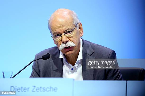 Dieter Zetsche CEO of Daimler AG attends the Daimler AG annual press conference on February 4 2016 in Stuttgart Germany The German government this...