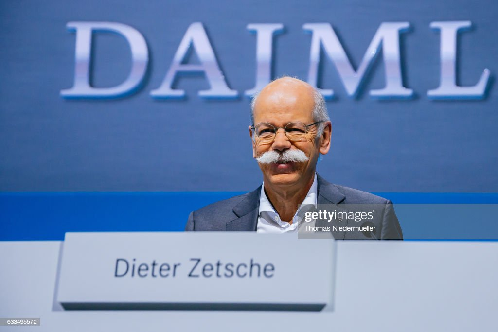 Dieter Zetsche, CEO of Daimler AG attends the Daimler AG annual press conference on February 2, 2017 in Stuttgart, Germany. Mercedes-Benz Cars continued along its path of highly profitable growth in 2016, with unit sales increasing by 10% to the new record of 2.2 million vehicles and revenue rose by 7% to 89.3 billion euros.