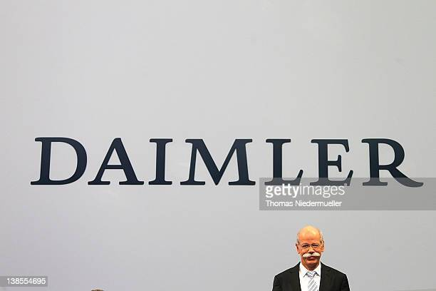 Dieter Zetsche CEO of German carmaker Daimler AG poses to the media to announce the company's financial performance in 2011 during the Daimler AG...