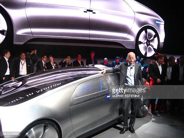 Dieter Zetsche Chairman of Daimler AG and head of MercedesBenz Cars introduces the F 015 an electric and autonomous concept car providing a vision of...