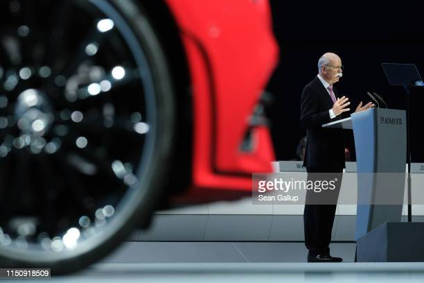 Dieter Zetsche Chairman of Daimler AG speaks at the annual Daimler AG shareholders meeting on May 22 2019 in Berlin Germany Daimler has struggled...