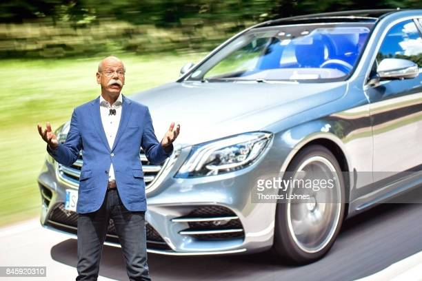 Dieter Zetsche Chairman of Daimler AG speaks at the MercedesBenz press conference at the 2017 Frankfurt Auto Show on September 12 2017 in Frankfurt...