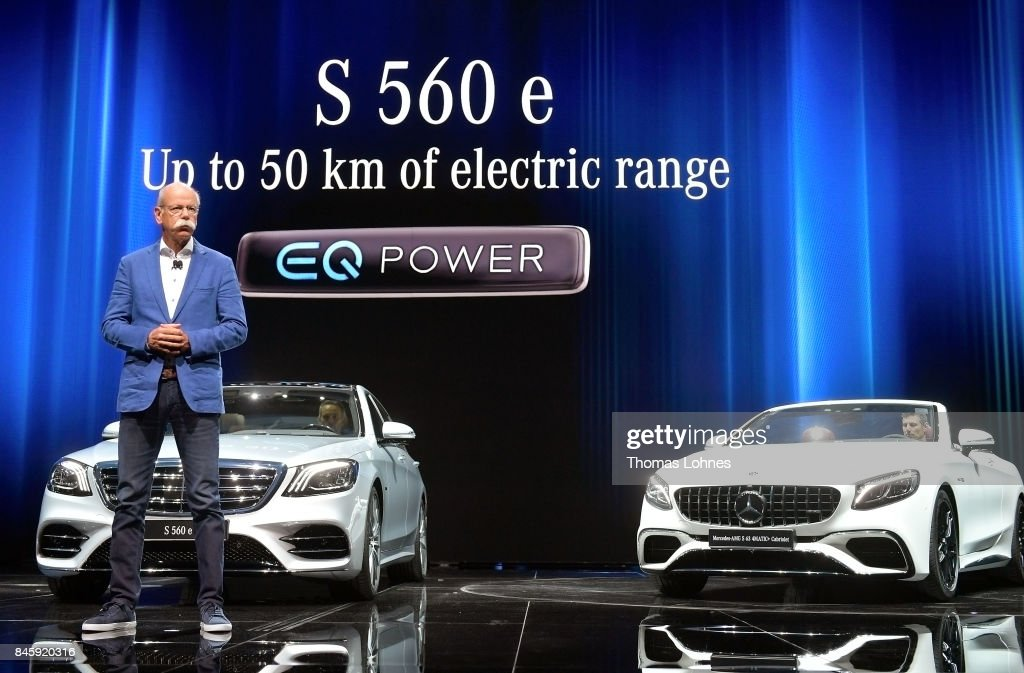 Dieter Zetsche, Chairman of Daimler AG, speaks at the Mercedes-Benz press conference at the 2017 Frankfurt Auto Show on September 12, 2017 in Frankfurt am Main, Germany. The Frankfurt Auto Show is taking place during a turbulent period for the auto industry. Leading companies have been rocked by the self-inflicted diesel emissions scandal. At the same time the industry is on the verge of a new era as automakers commit themselves more and more to a future that will one day be dominated by electric cars.