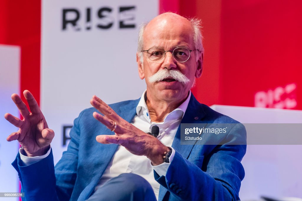Dieter Zetsche, chairman of the board of management of Daimler AG, Head of Mercedes-Benz Cars, of Mercedes-Benz Cars, attends the Day 1 of the RISE Conference 2018 at Hong Kong Convention and Exhibition Center on July 10, 2018 in Hong Kong, Hong Kong.