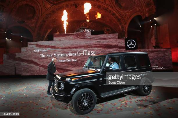 Dieter Zetsche chairman of the board of management of Daimler AG introduces the 2019 MercedesBenz GClass during a media preview at the North American...