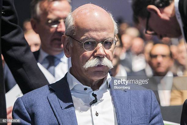 Dieter Zetsche chief executive officer of Daimler AG looks on before taking part in a panel discussion at the Handlesblatt Automotive Summit in...
