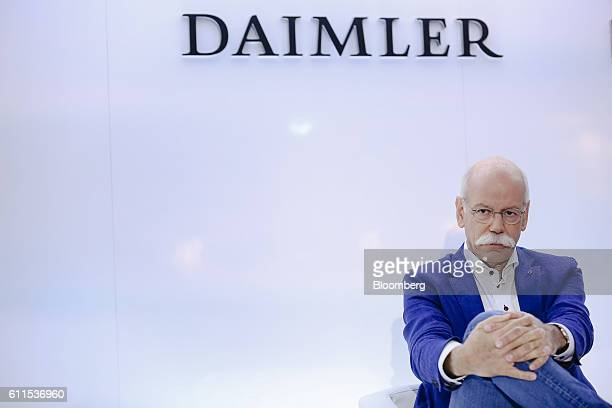 Dieter Zetsche, chief executive officer of Daimler AG, looks on during a news conference on the second press day of the Paris Motor Show at Porte de...