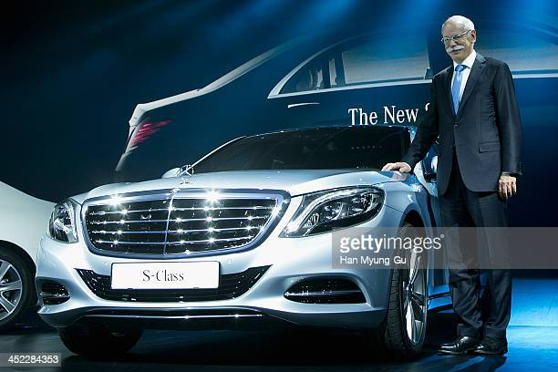 Dieter Zetsche chief executive officer of Daimler AG poses for media the launch event of MercedesBenz New SClass on November 27 2013 in Seoul South...