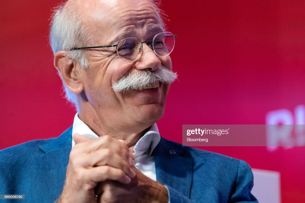 Dieter Zetsche, chief executive officer of Daimler AG, reacts during the Rise conference in Hong Kong, China, on Tuesday, July 10, 2018. The conference runs through July 12. Photographer: Anthony Kwan/Bloomberg via Getty Images