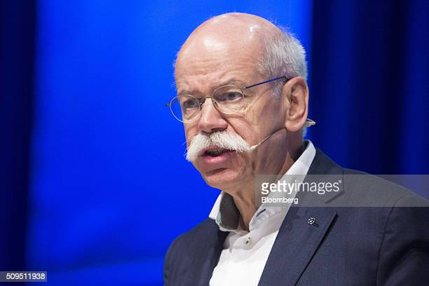 Dieter Zetsche chief executive officer of Daimler AG speaks during the CAR Symposium in Bochum Germany on Thursday Feb 11 2016 General Motors Co's...