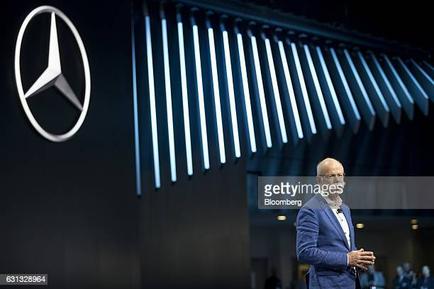 Dieter Zetsche chief executive officer of Daimler AG speaks during the 2017 North American International Auto Show in Detroit Michigan US on Monday...