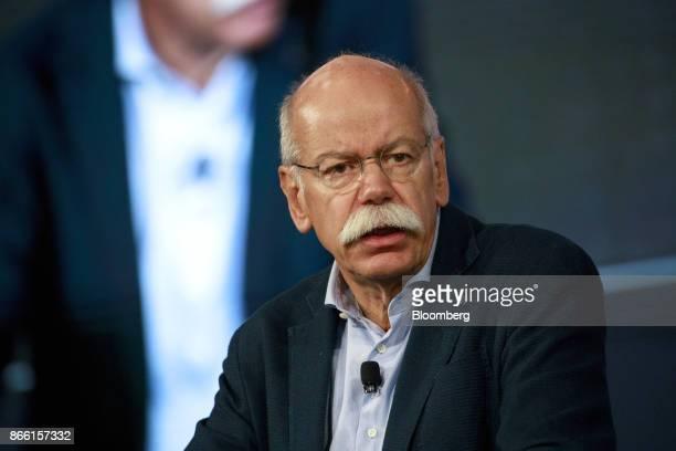 Dieter Zetsche chief executive officer of Daimler AG speaks during the Handelsblatt auto industry conference in Sindelfingen Germany on Wednesday Oct...