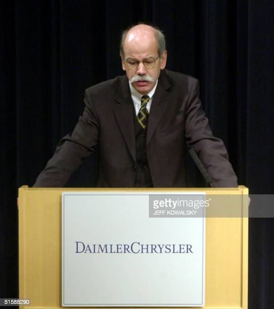 Dieter Zetsche DaimlerChrysler's Chrysler Group president and CEO announces part of the company's turnaround plan at the Chrysler Groups headquarters...