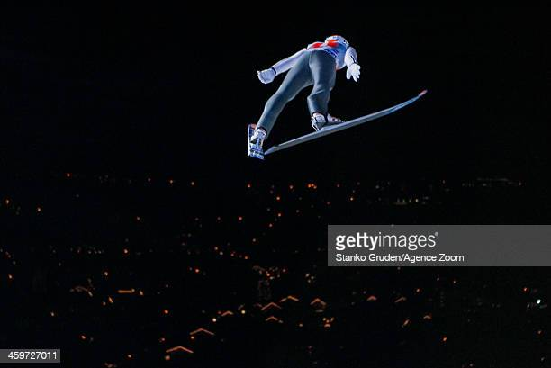 Diethart Thomas of Austria takes 3rd place during the FIS Ski Jumping World Cup Vierschanzentournee on December 29 2013 in Oberstdorf Germany