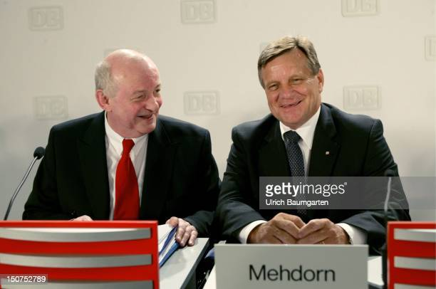 Diethelm SACK responsible for finance and controlling and Hartmut MEHDORN chairman of the executive board on the balance press conference of the...