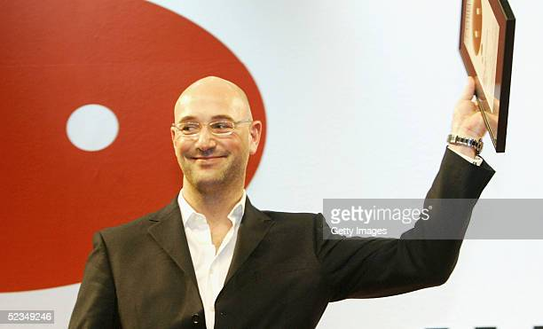 Dietmar Axt Country Manager Germany for Diesel with the award for best art direction at the LEAD Awards 2005 at the Deichtorhallen on March 9 2005 in...
