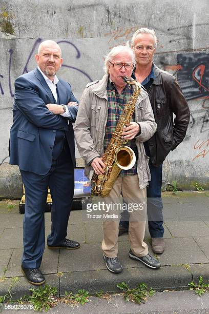 Dietmar Baer Klaus Doldinger and Klaus J Behrendt during a photo call for the episode 'Tatort Wacht am Rhein' on August 1 2016 in Cologne Germany