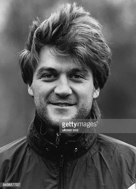 Dietmar Beiersdorfer, Fußballspieler beim Hamburger SV. Aufgenommen Februar 1992.