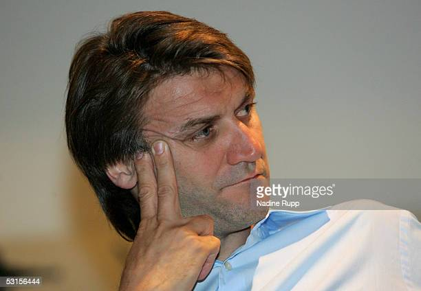 Dietmar Beiersdorfer, vize-chief of HSV, during the general meeting of the Bundesliga Club Hamburger SV at the AOL Arena on June 27, 2005 in Hamburg,...