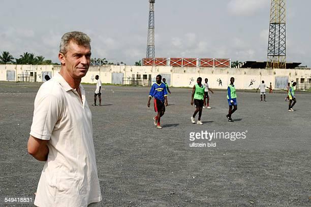Dietmar Demuth, Football Trainer, Germany - at his football club Ashanti Gold in Ghana, Obuasi