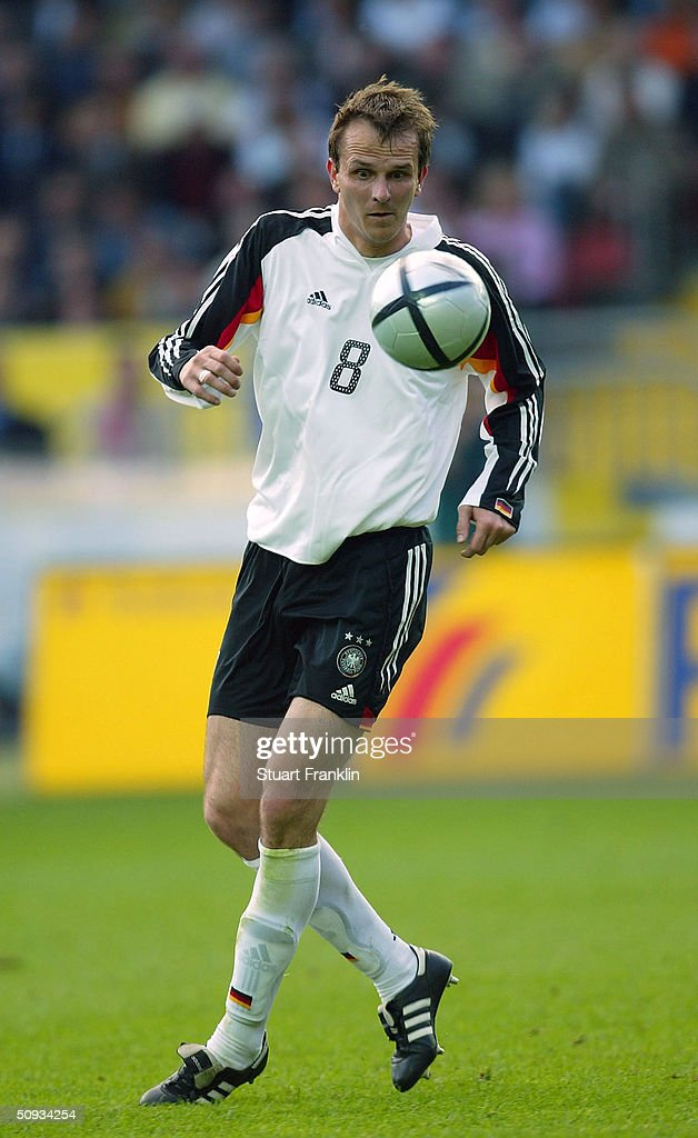 Dietmar Hamann of Germany in action during the International Friendly match between Germany and Hungary on June 6, 2004 at The Fritz-Walter Stadium in Kaiserlautern, Germany.