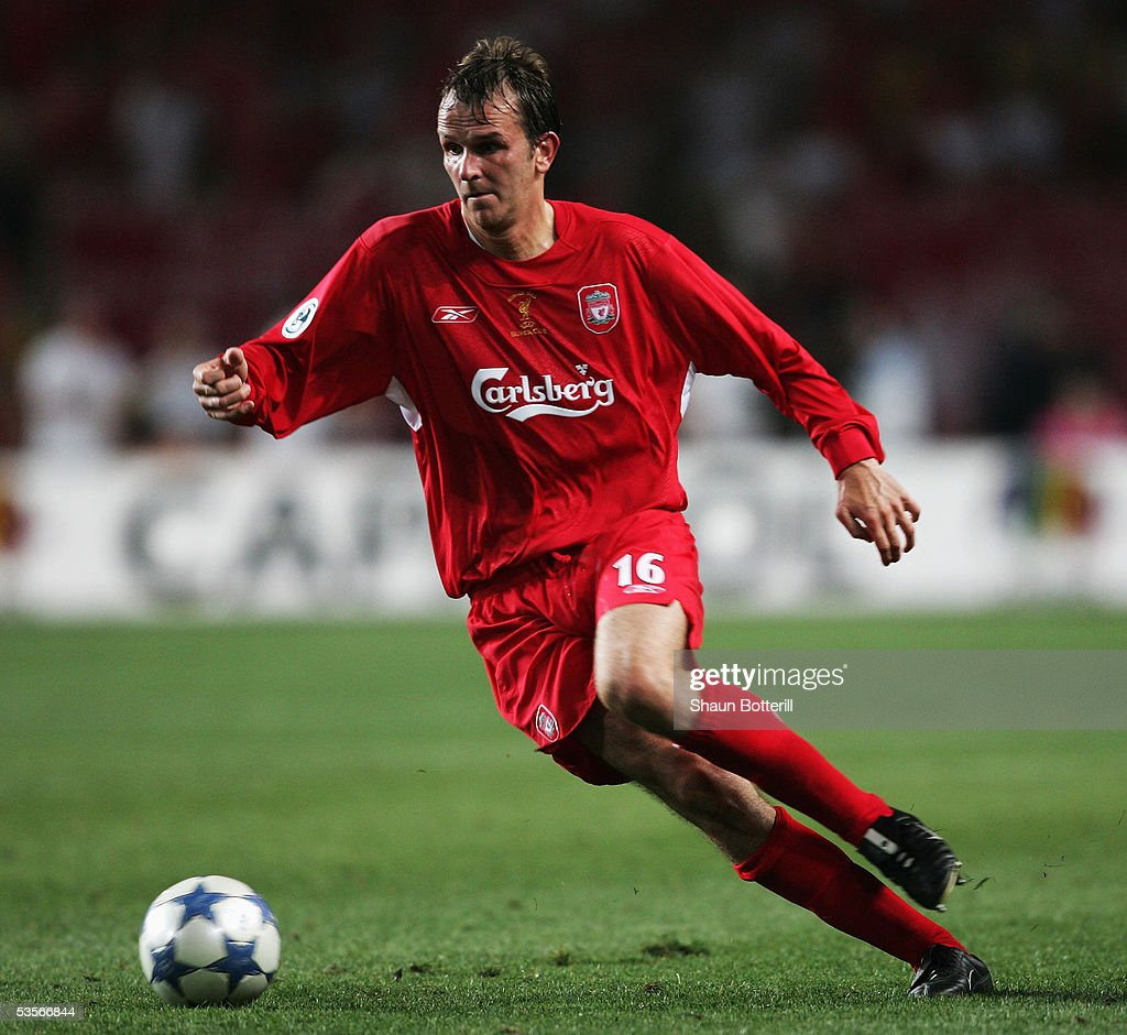 Dietmar Hamann of Liverpool during the UEFA Super Cup match between Liverpool and CSKA Moscow at the Stade Louis II on August 26, 2005 in Monte Carlo, Monaco.