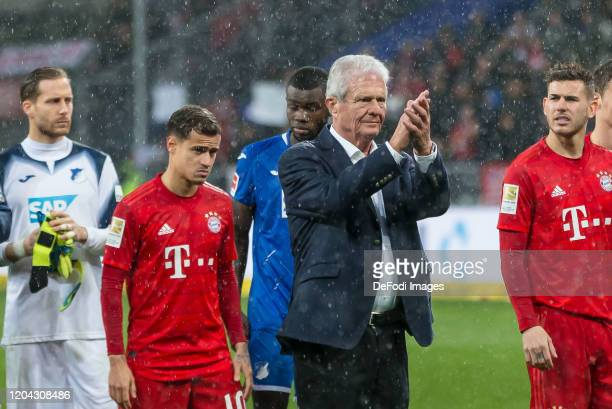 Dietmar Hopp and gestures after the Bundesliga match between TSG 1899 Hoffenheim and FC Bayern Muenchen at PreZeroArena on February 29 2020 in...