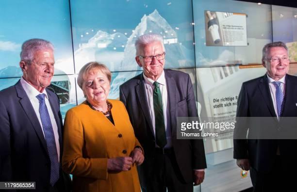 Dietmar Hopp German Chancellor Angela Merkel the Prime Minister of BadenWuerttemberg Winfried Kretschmann and the chairman of the foundation...