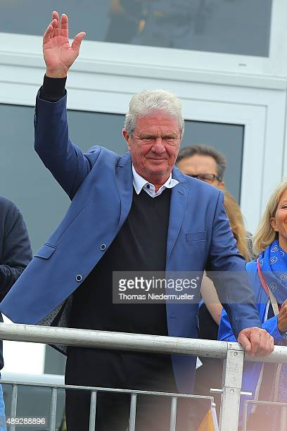 Dietmar Hopp President of the Golf Club St LeonRot is seen during the Sundays single matches in the 2015 Solheim Cup at St LeonRot Golf Club on...