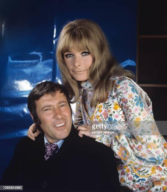 Dietmar Schönherr and wife Vivi Bach on 4th May 1970   usage worldwide