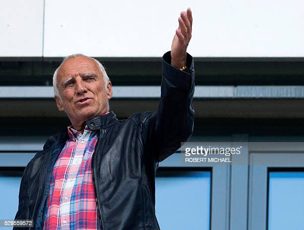 Dietrich Mateschitz Austrian businessman and cofounder of the Red Bull energy drink compan gestures during the German second division Bundesliga...