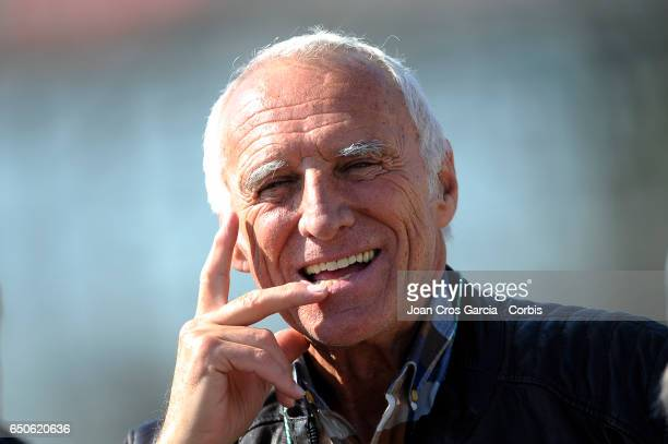 Dietrich Mateschitz CEO of RedBull attends the Formula One preseason tests on May 9 2017 in Barcelona Spain