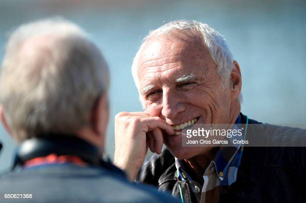 Dietrich Mateschitz CEO of RedBull attends the Formula One preseason testss on May 9 2017 in Barcelona Spain